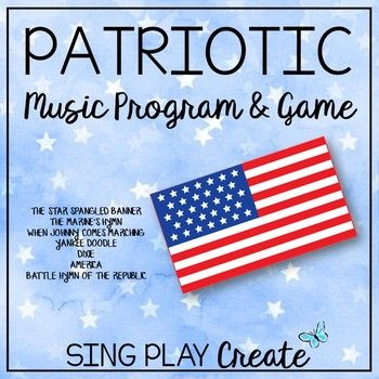 Students Love To Sing These Familiar Patriotic American Songs Use For A Music Program Sc Singing Lessons For Kids Preschool Music Activities Elementary Music