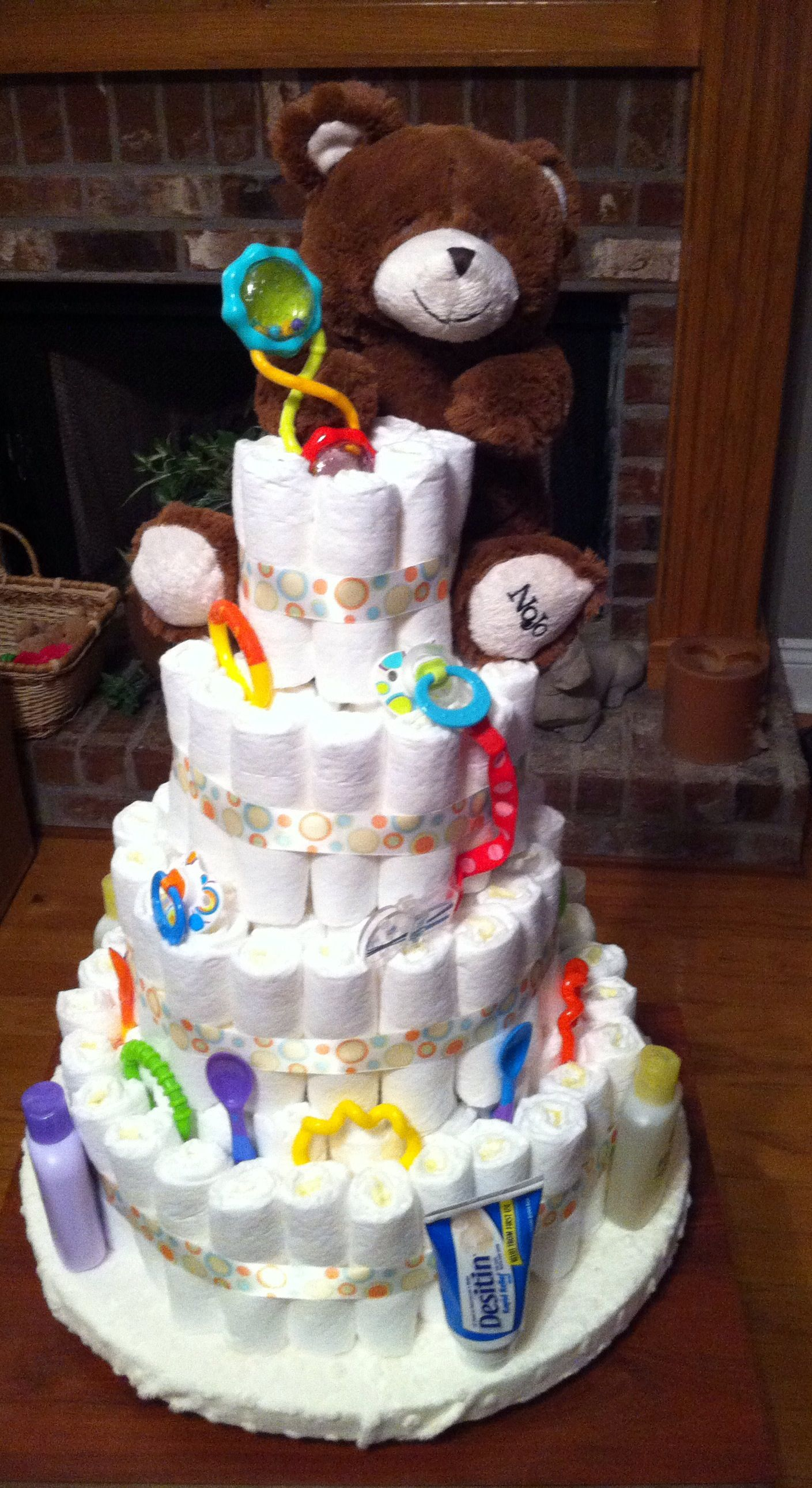 My Gender Neutral Diaper Cake With Images Gender Neutral