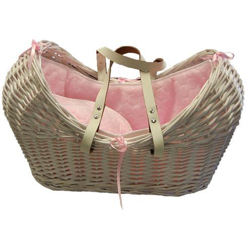 Royal Wicker Dolls Moses Basket Pink
