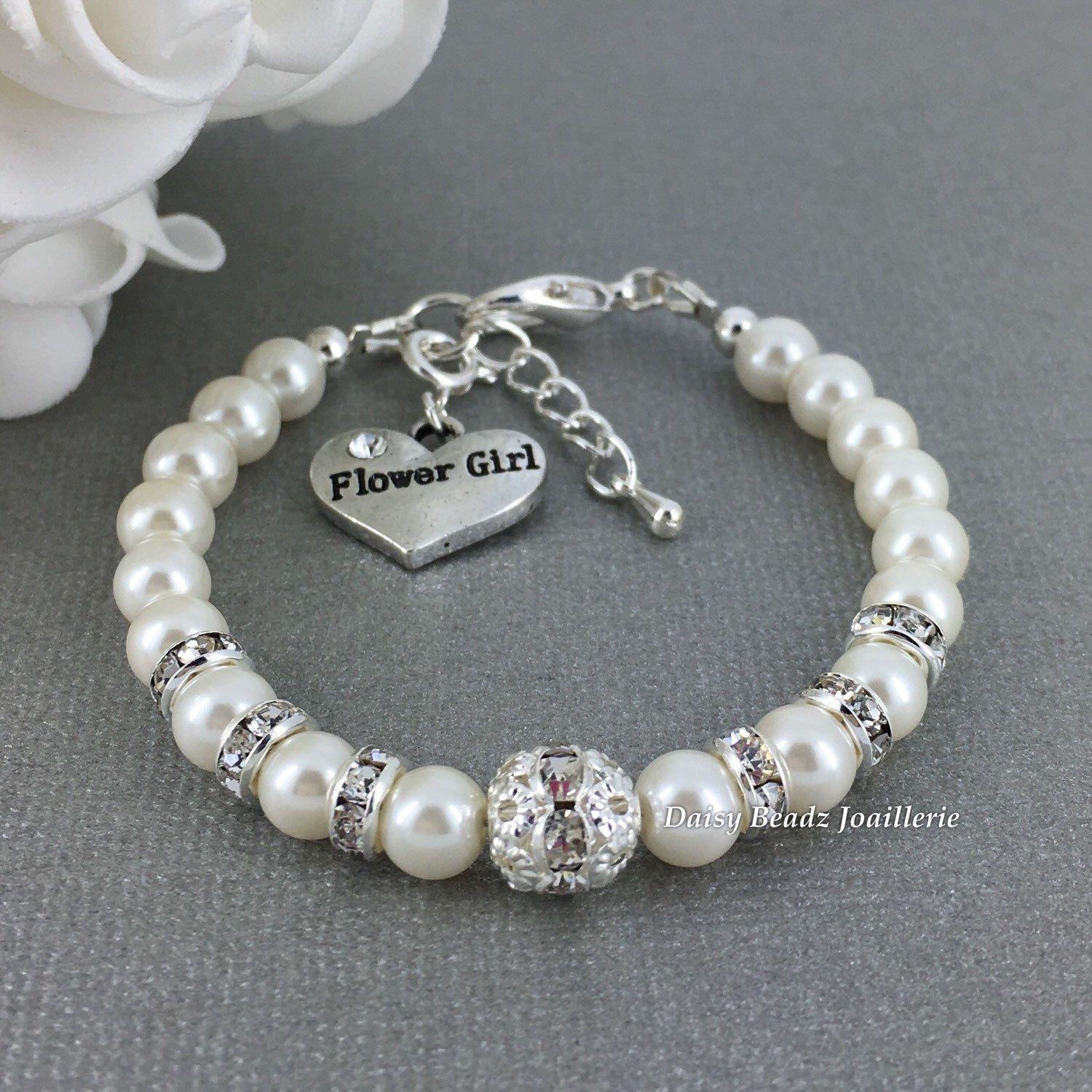 Flower girl bracelet flower girl jewelry flower girls gift flower