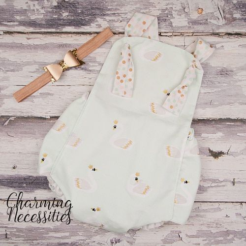 Swan Queen Romper - Baby Toddler Girl Trendy Modern Boho Outfit ...