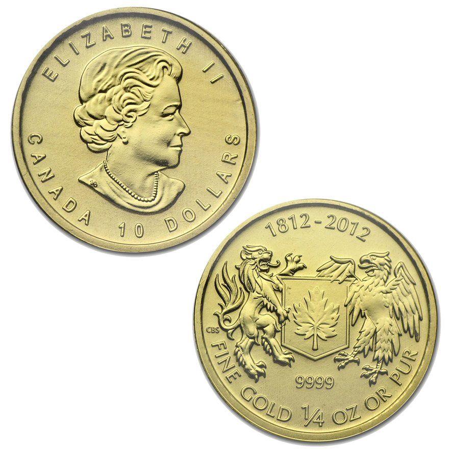 Canada 1 4 Oz Gold War Of 1812 Coin In 2020 Gold Coins Gold Bullion Gold