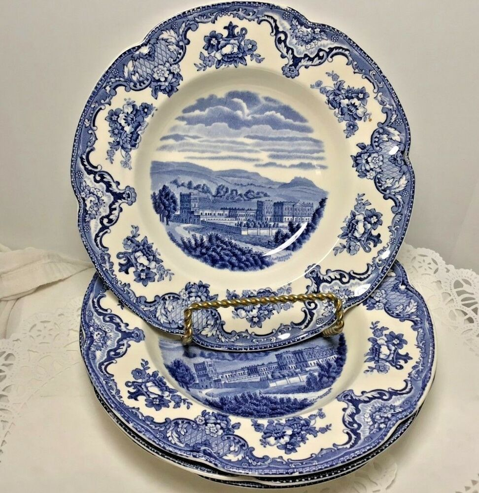 Old Britians Castles (Made in England) Blue By Johnson