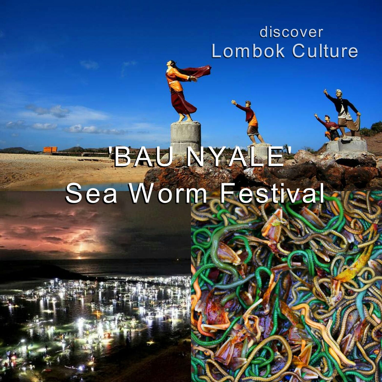 Bau Nyale' sea worm festival in Lombok is an annual event