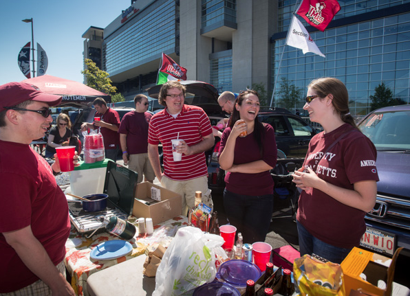 Tailgating Before A Umass Football Game Football Games Football Tailgating