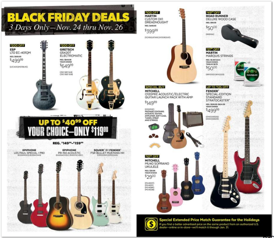Guitar Black Friday Deals 2020 Guitar Ads Offers Sale Black Friday Black Friday Deals Black Friday 2019