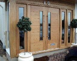 45.Oak Alsace door pair purpose made:   front door   Pinterest ...