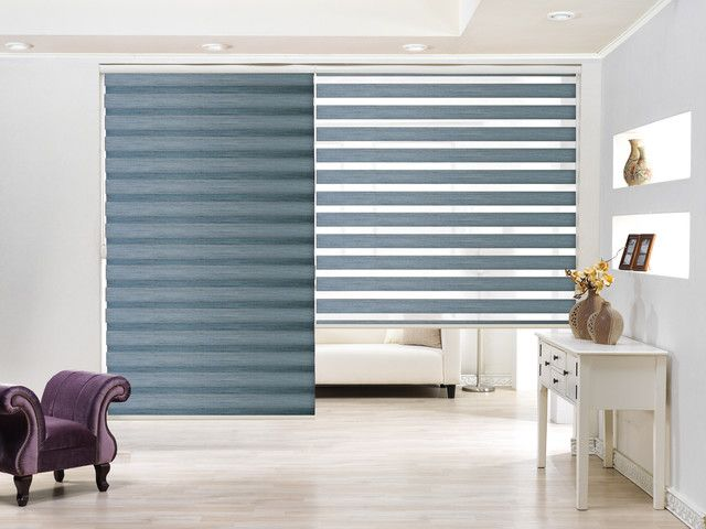 Stunning Modern Roller Zebra Blinds With Slate Gray Color Also