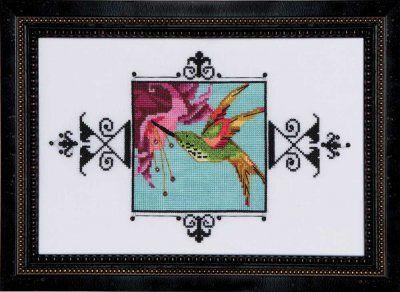 "XSTITCH KIT  /""BLUE MONARCH FLYCATCHER  NC186/"" Audubon Street by Nora Corbett"