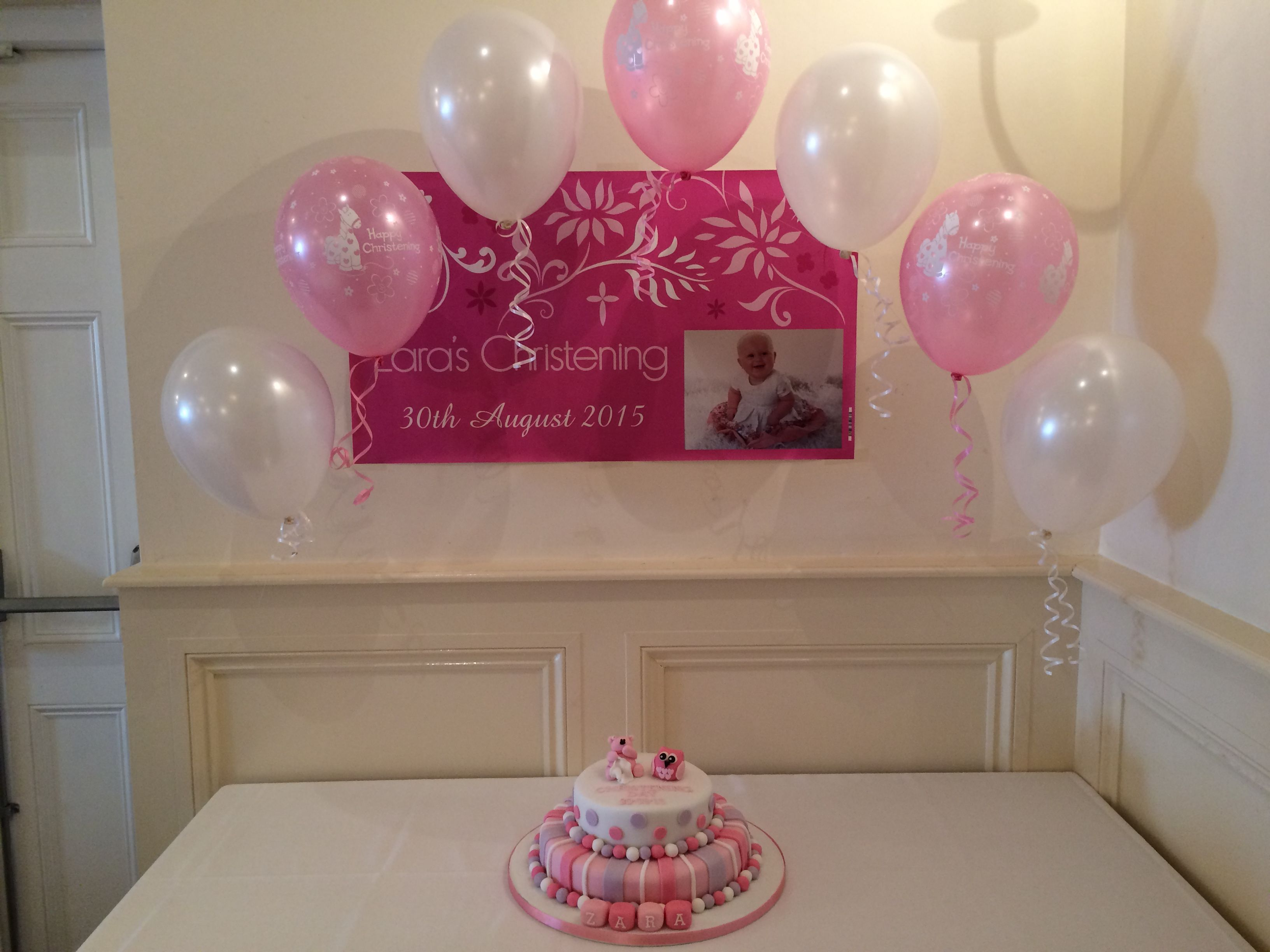 Arch for cake table is a wonderful way to frame your for Beautiful balloon decorations
