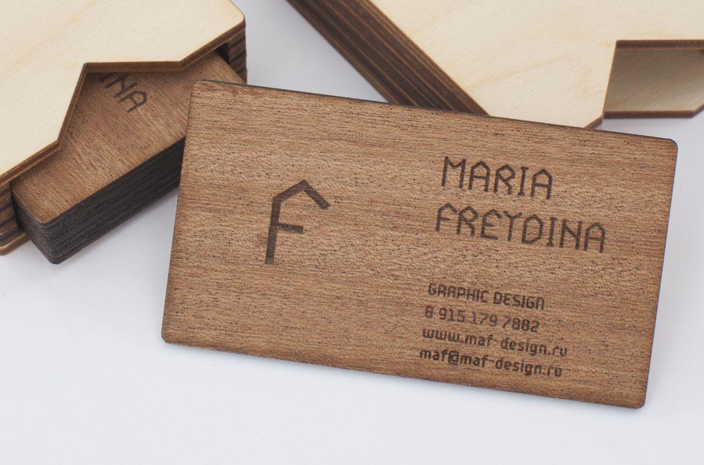 Ausgefallene Visitenkarten Visitenkarte Aus Holz Mit