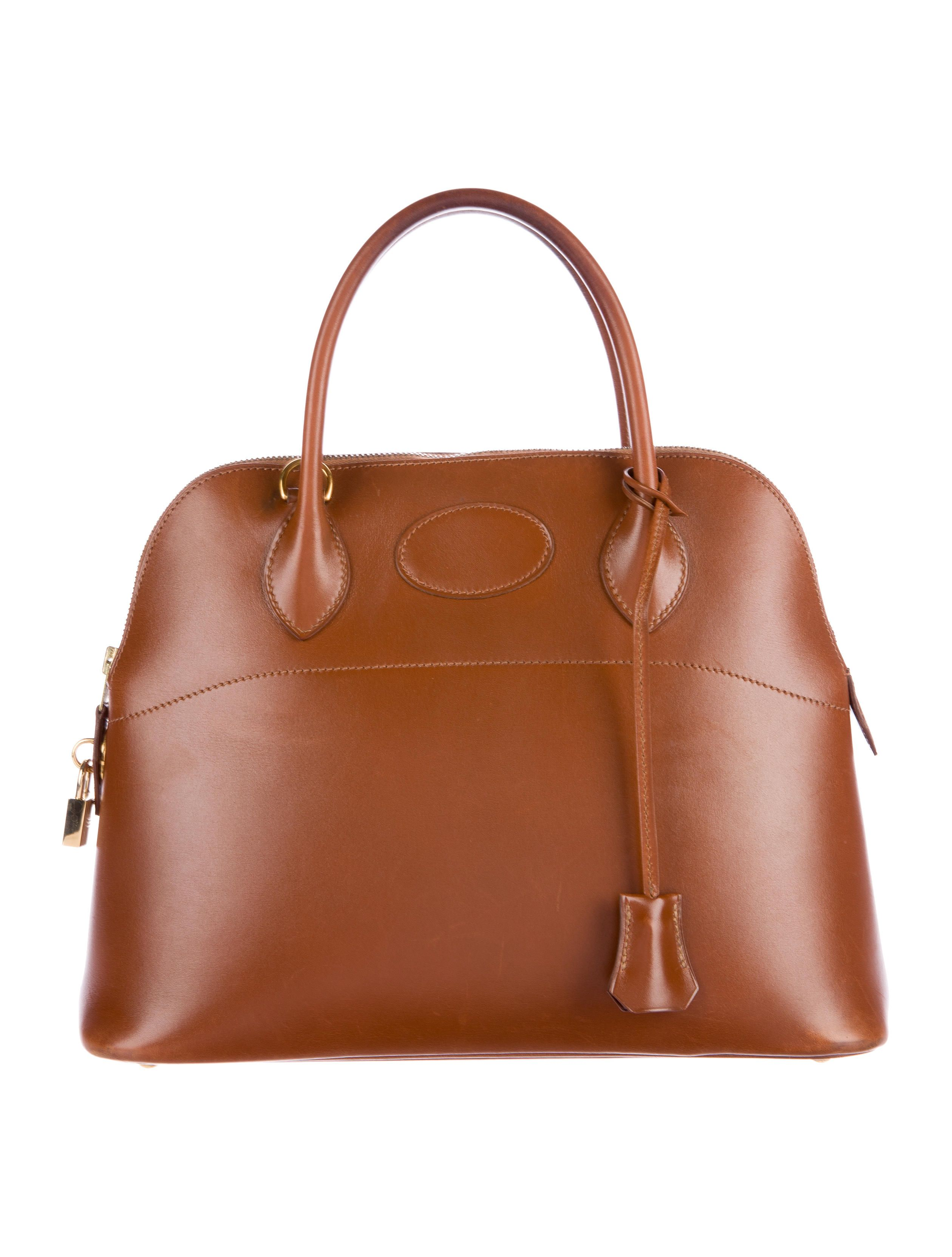 15e4fa6d51 Marron d inde Box leather Hermès Bolide 31 with gold-plated hardware
