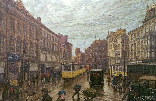 Hans Baluschek - Der Molkenmarkt im Jahre 1929 (70,0 x 46 ...