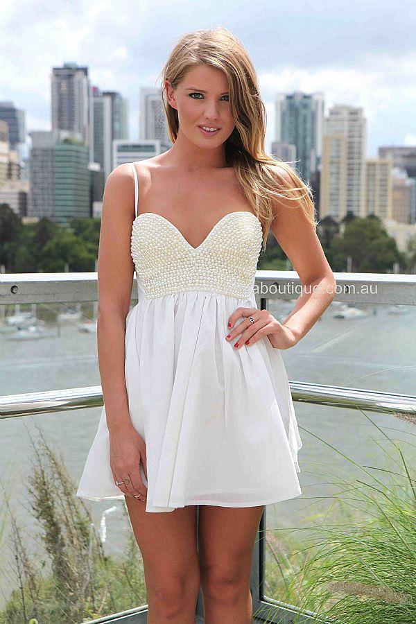 Pearl Bust Dress Fashion