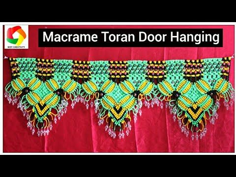 How to make Macrame Toran Door hanging full step by step video tutorial| Latest Design Toran| DIY Macrame Toran Today we are going to show a new design of ... & How to make Macrame Toran Door hanging full step by step video ...