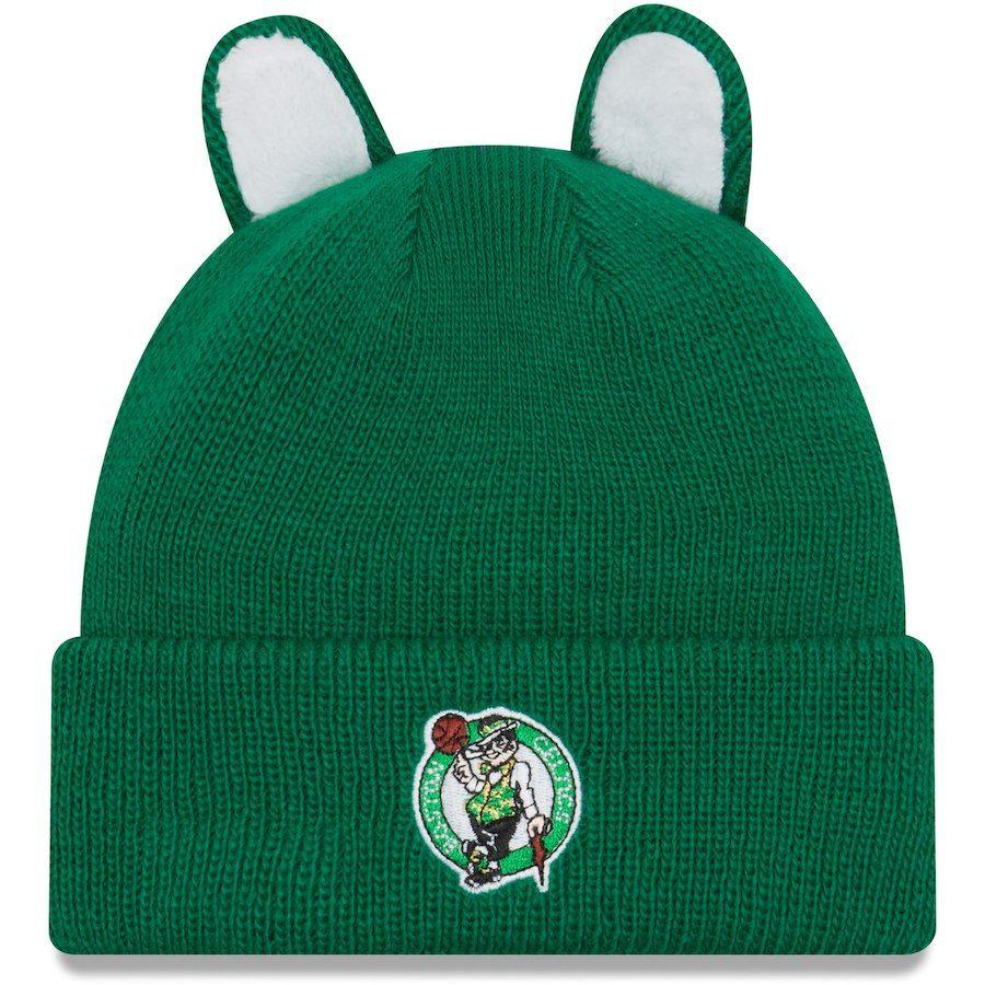 36bcd6f0a39 Toddler Boston Celtics New Era Kelly Green Cozy Cutie Cuffed Knit ...