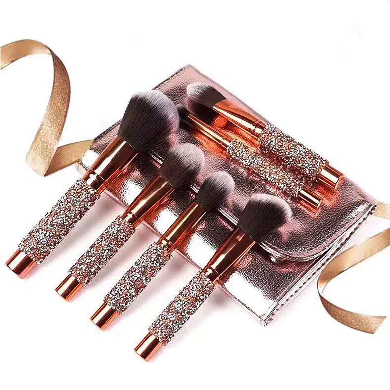 Adpartner 10 PCS Luxury Makeup Brushes Set with Bag