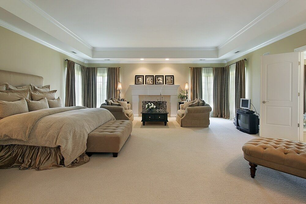 Master Bedroom Tray Ceiling 75 impressive master bedrooms with fireplaces | white mantle