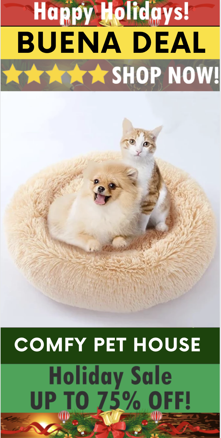 Comfy Calming High Stretch Soft Pet Dog Bed Cat House Dog Bed
