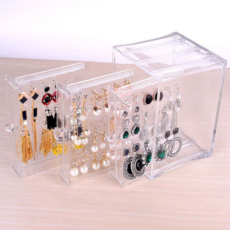 25 Beautiful Acrylic Jewelry Holders Zen Merchandiser Jewelry Display Box Acrylic Storage Box Earring Storage