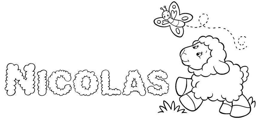 Fofurinhas Da Vivi Nome Nicolas Desenho De Crianca Pintura Em
