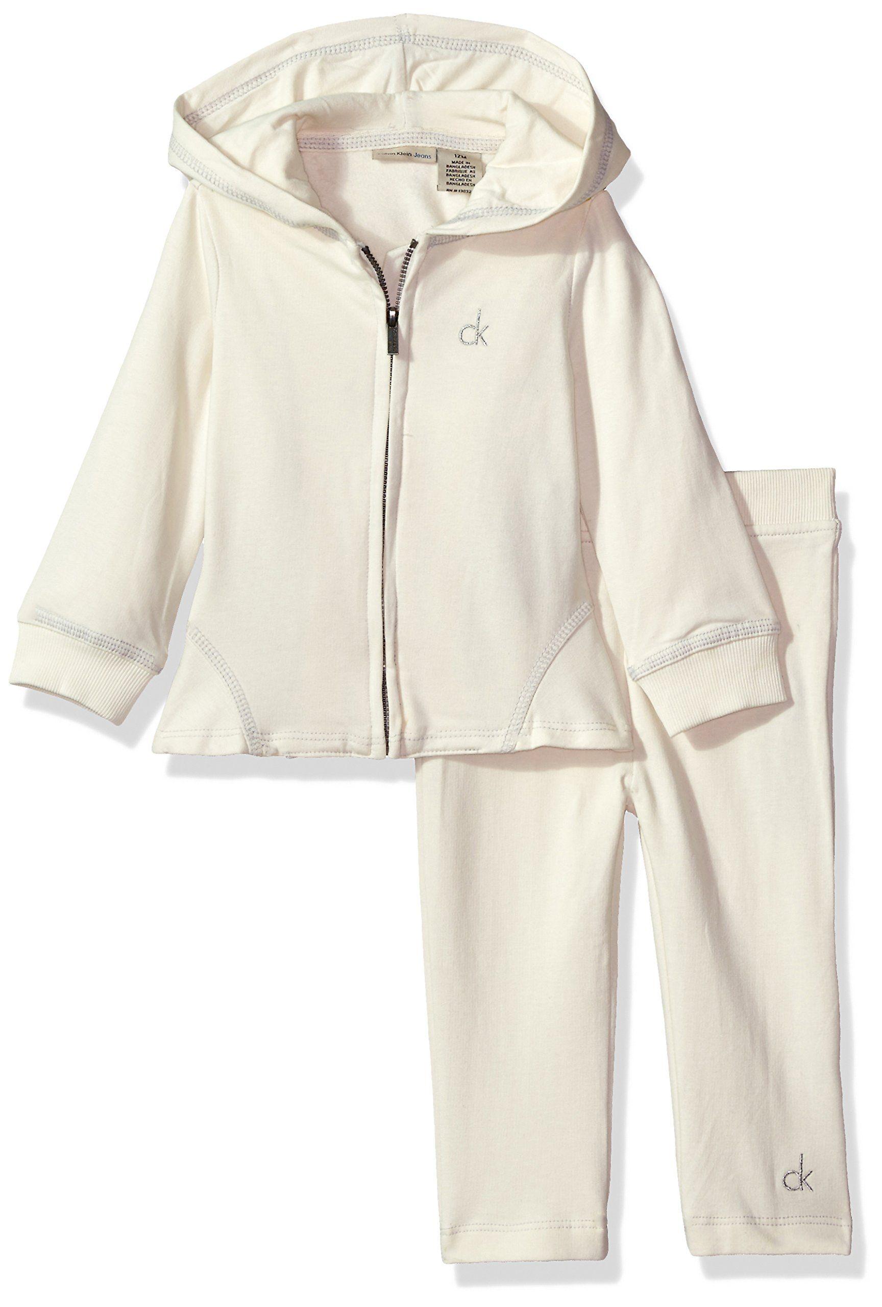 da47d09069ac Calvin Klein Baby Fleece Jacket with Pants Set Snow 6 9 Months ...