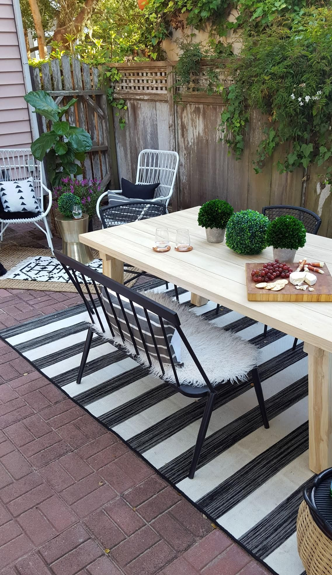 Patio Makeover With Article (With images)   Patio, Patio ... on Living Spaces Outdoor Dining id=86098