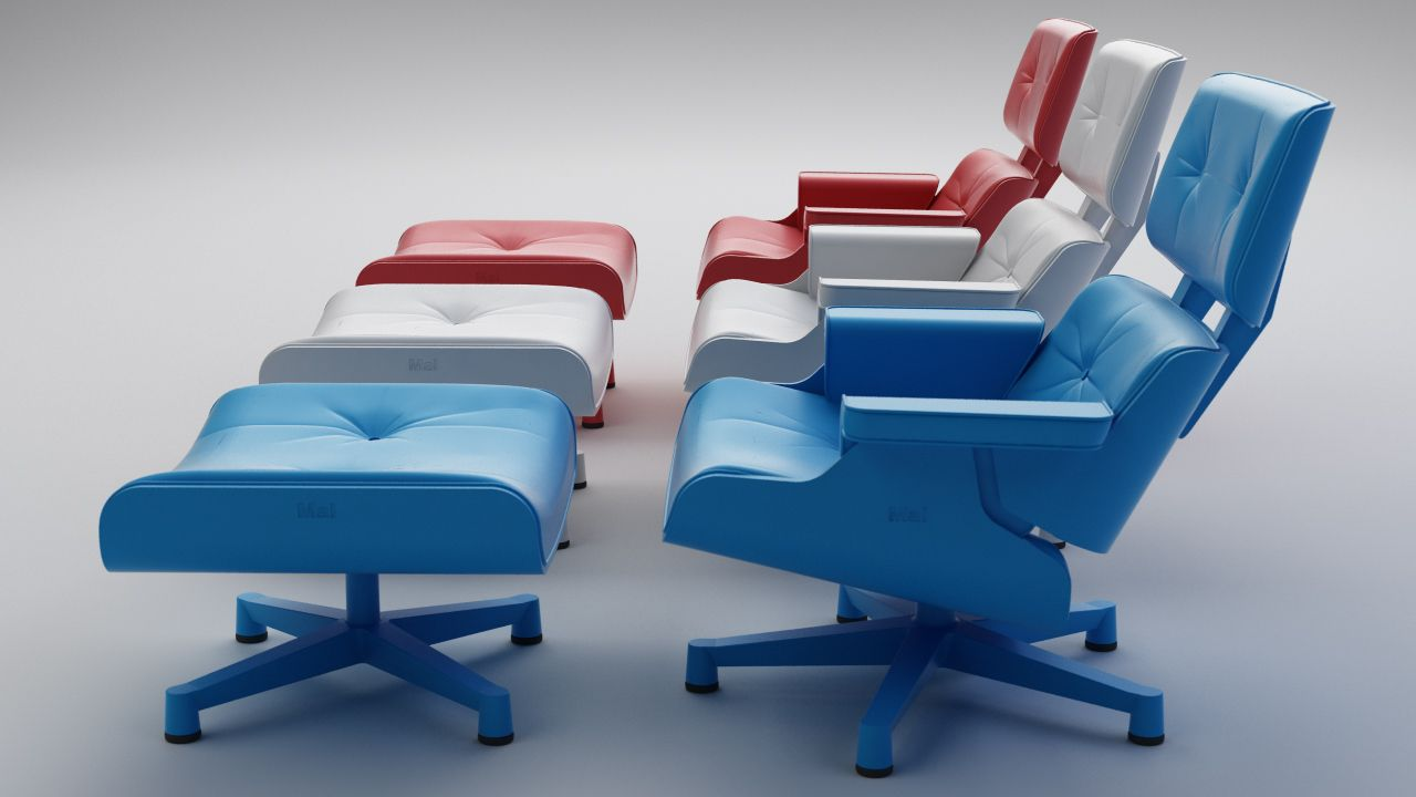Plastic Outdoor Eames Chairs From MAL Furniture
