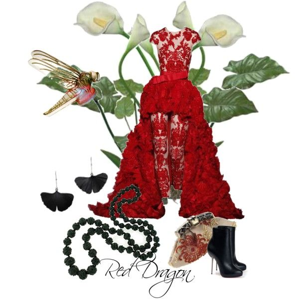 """""""Red Dragon"""" by moodycat on Polyvore"""