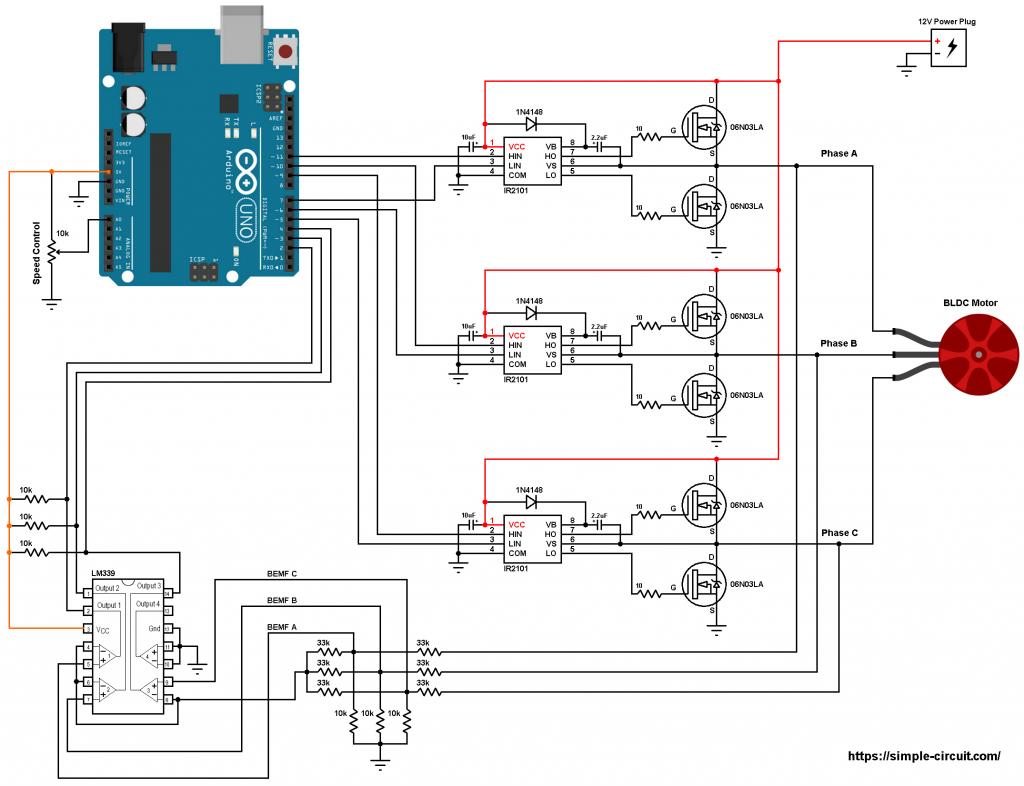 brushless dc motor controller circuit diagram makeatronics bldc [ 1024 x 786 Pixel ]
