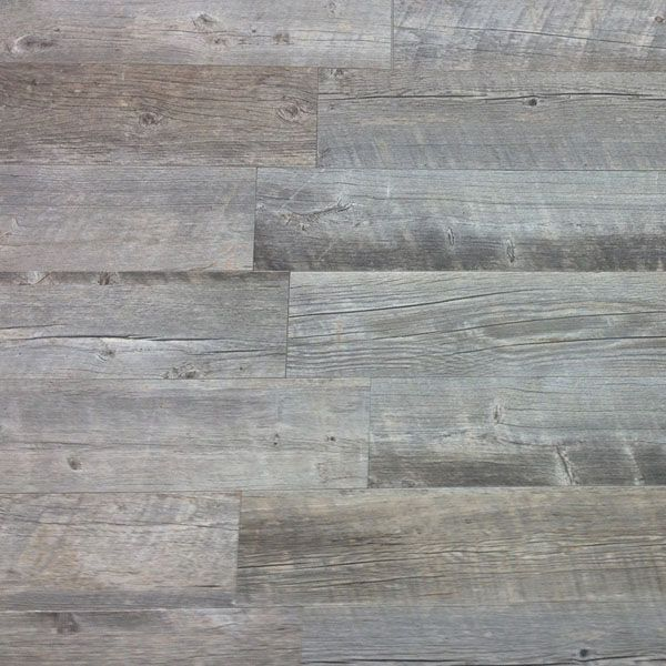 Rustic faux barnwood tile from Lowe\'s..bought this for powder room ...