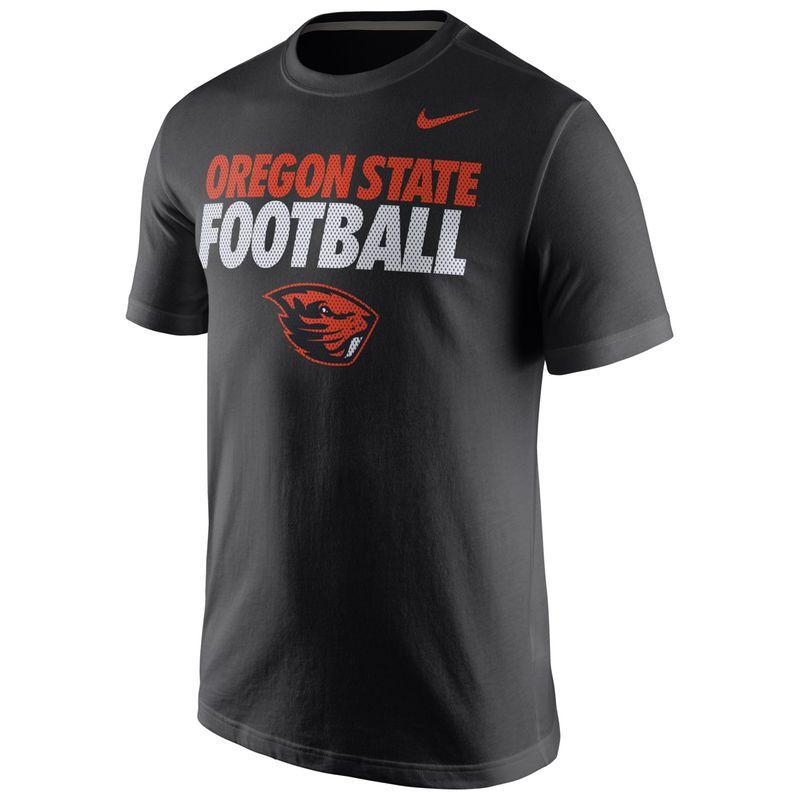 Oregon State Beavers Nike Practice T-Shirt - Black