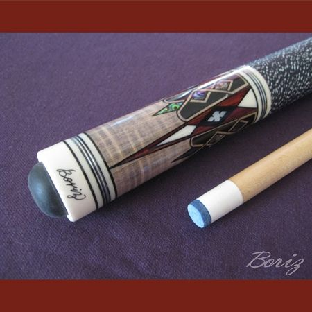 Billiards Linen Grip Pool Cue Stick Original Inlay Artwork 039