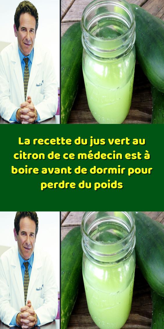 La recette du jus vert au citron de ce médecin est à boire