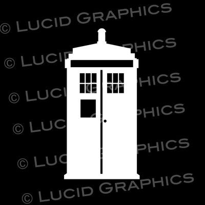 Tardis Police Call Box Vinyl Decal Sticker Inspired by Doctor Who