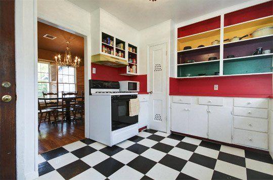 Fun Multi Colored Kitchen Cabinets