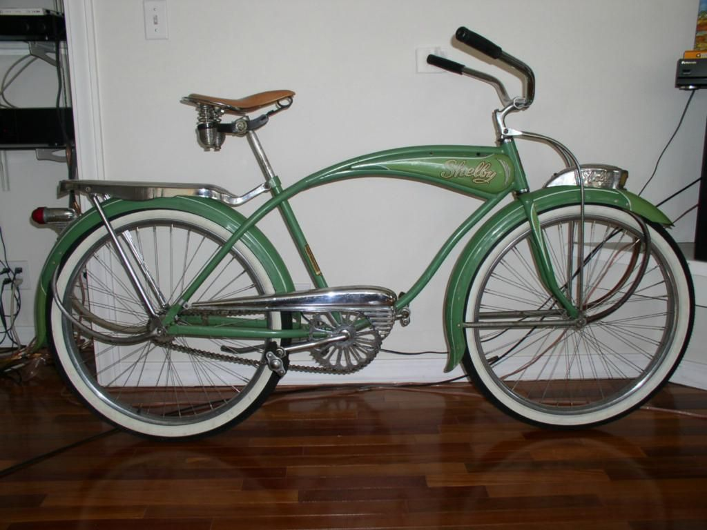 Green 1949 shelby bicycle
