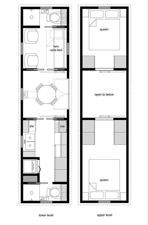 tiny house floor plan transportation design pinterest kleines h uschen grundrisse und. Black Bedroom Furniture Sets. Home Design Ideas