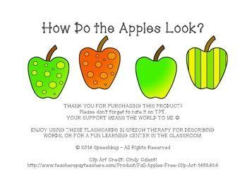 How Do The Apples Look? Describing Flashcards