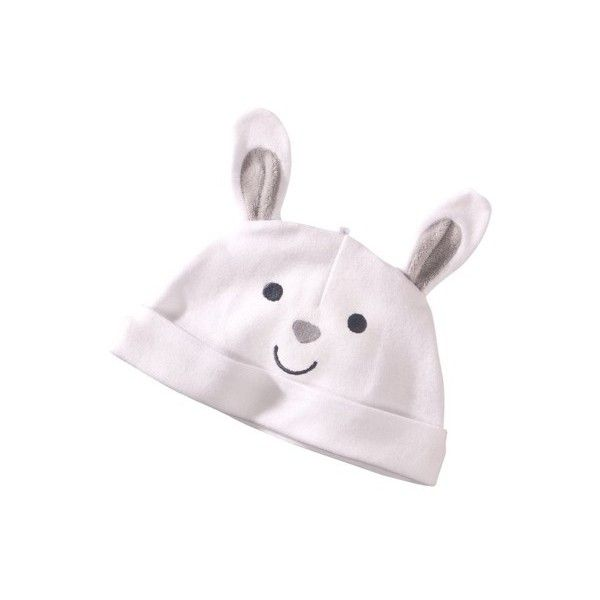 Precious Firsts Made by Carters Newborn Bunny Hat White (€3,20) ❤ liked on Polyvore featuring kids, baby, baby girl and baby stuff