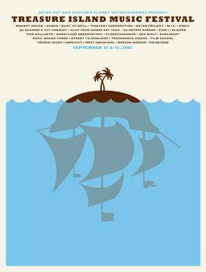 The Small Stakes Music Posters Treasure Island Music Festival Festival Posters Jason Munn
