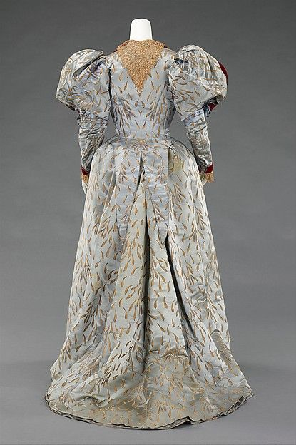 Evening ensemble Design House: House of Worth  Designer: Attributed to Charles Frederick Worth  Designer: Attributed to Jean-Philippe Worth  Date: 1893 Culture: French Medium: silk, linen, metal Accession Number: 2009.300.622a–c