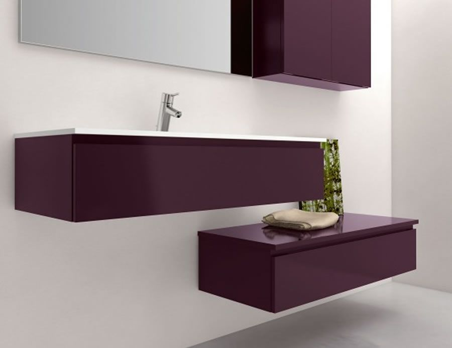 Luxury Modular Bathroom Vanity Design For Furniture Infinity Plum Lacquer Series By Nella Vetrina