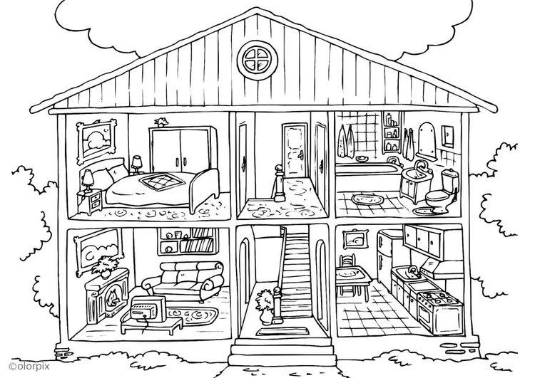 Malvorlage Haus Von Innen Ausmalbild 25995 Ausmalbilder Zum Ausdrucken Barbie Malvorlagen Ausmalbilder