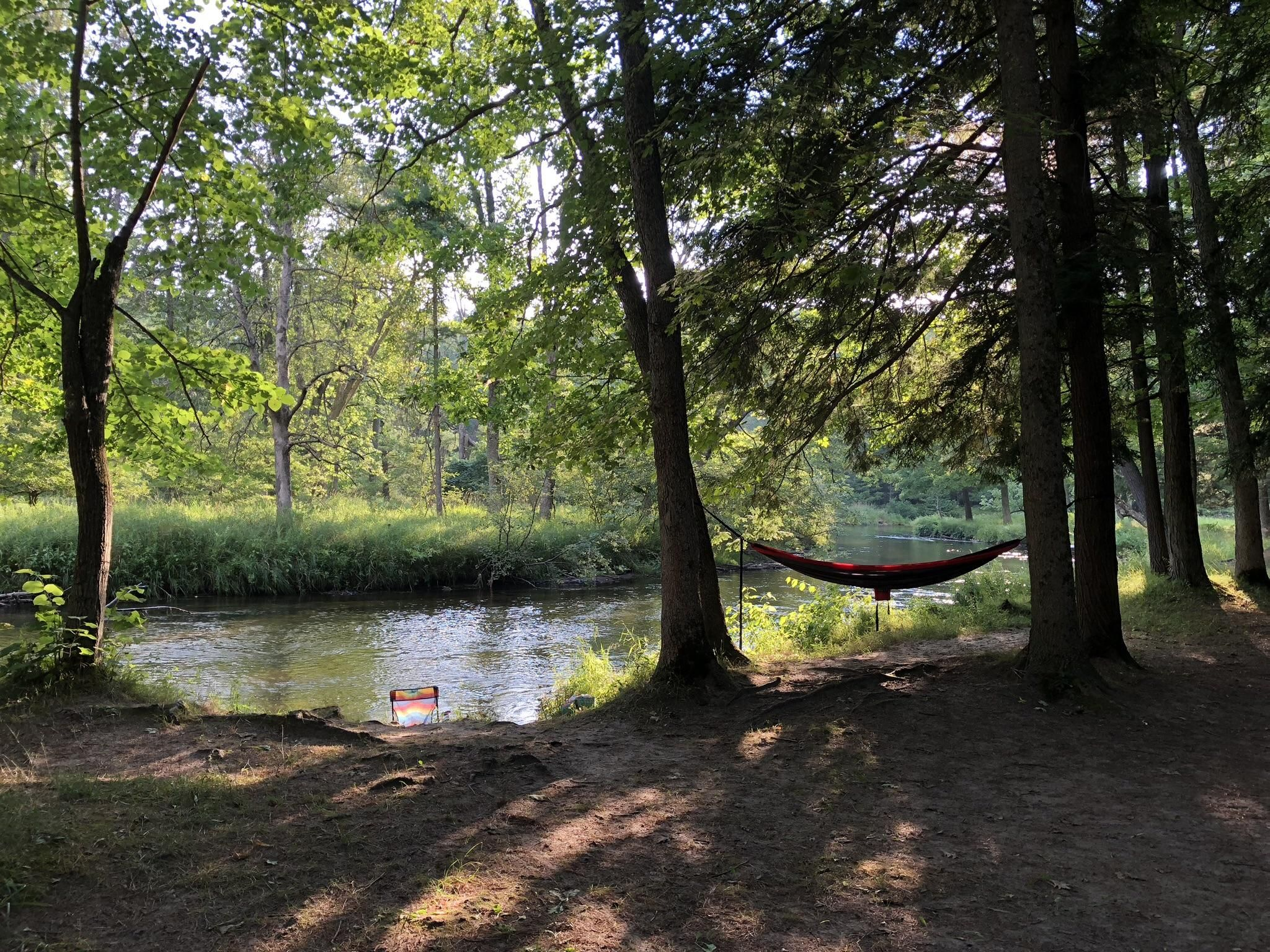 Camping on the Pere Marquette River in northern Michigan # ...