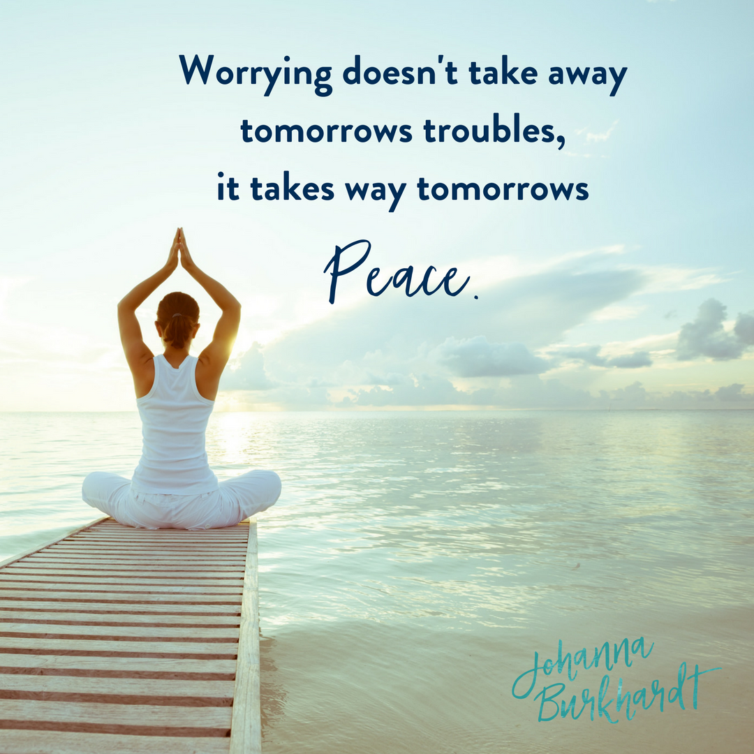 Worry is a prayer for chaos. What you focus on you attract. #quotes ...