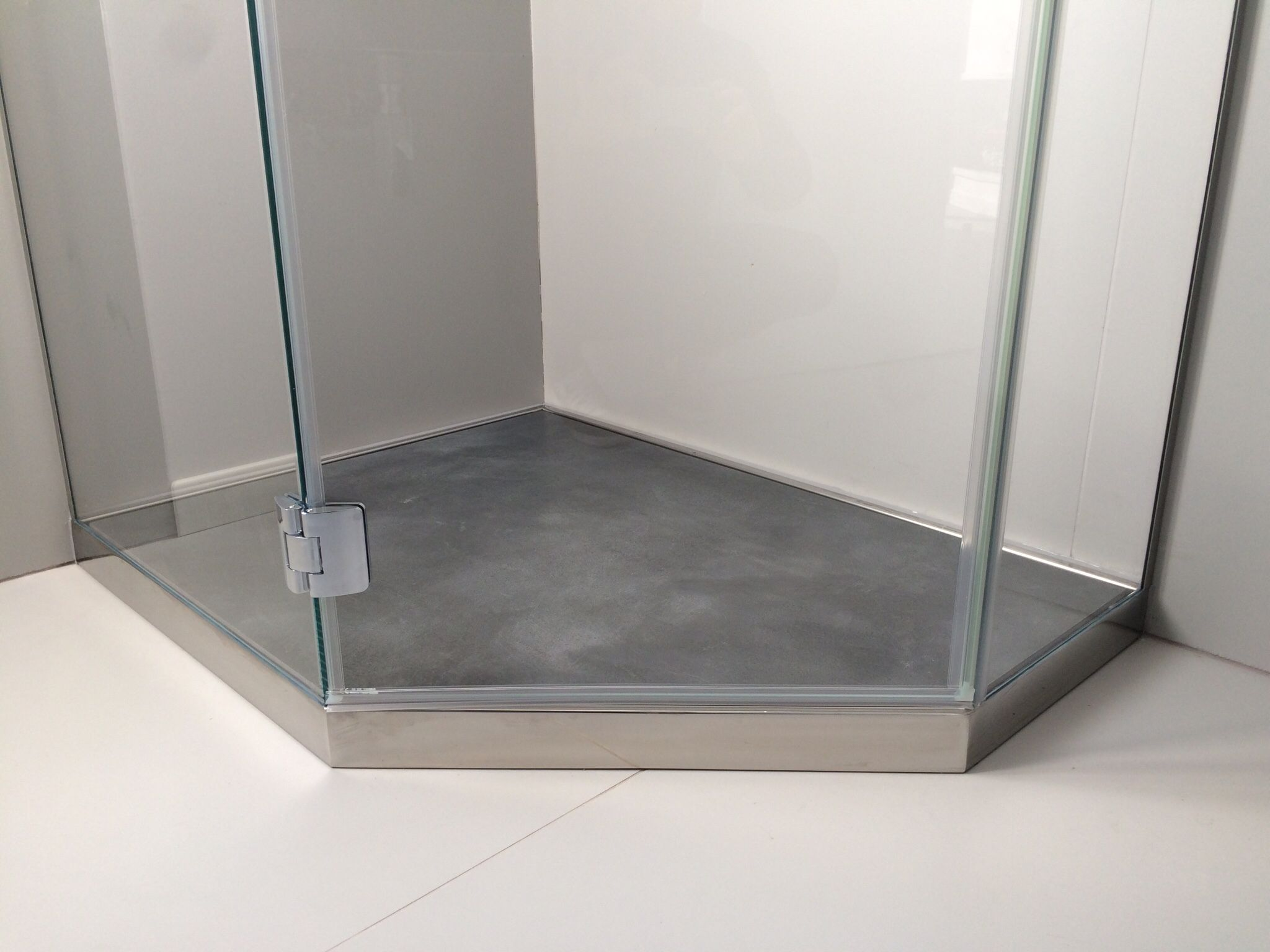 Good p dreno plus linea penta piatto doccia da appoggio in acciaio with piatto doccia da - Rivestire piatto doccia ...