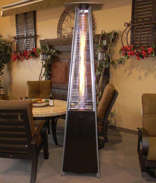Amazon Com Golden Flame Patio Heater Xl Series Matte Mocha 46 000 Btu With Wheels Propane Gas Garden Outdoor Patio Outdoor Gardens Patio Heater