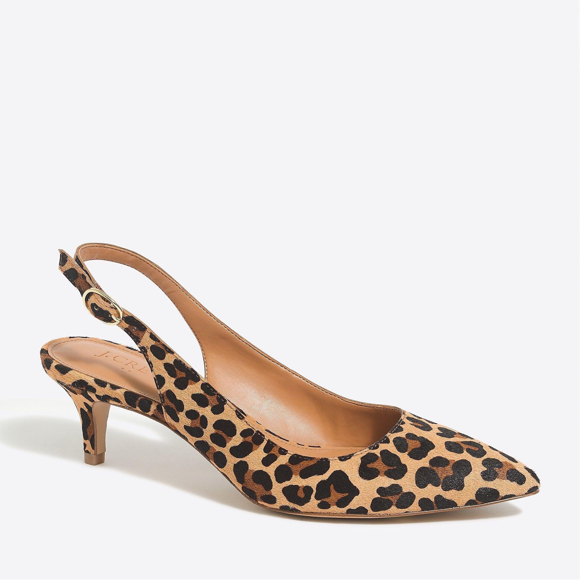 Esme Calf Hair Slingback Kitten Heels Kitten Heels Heels Kitten Heel Boots