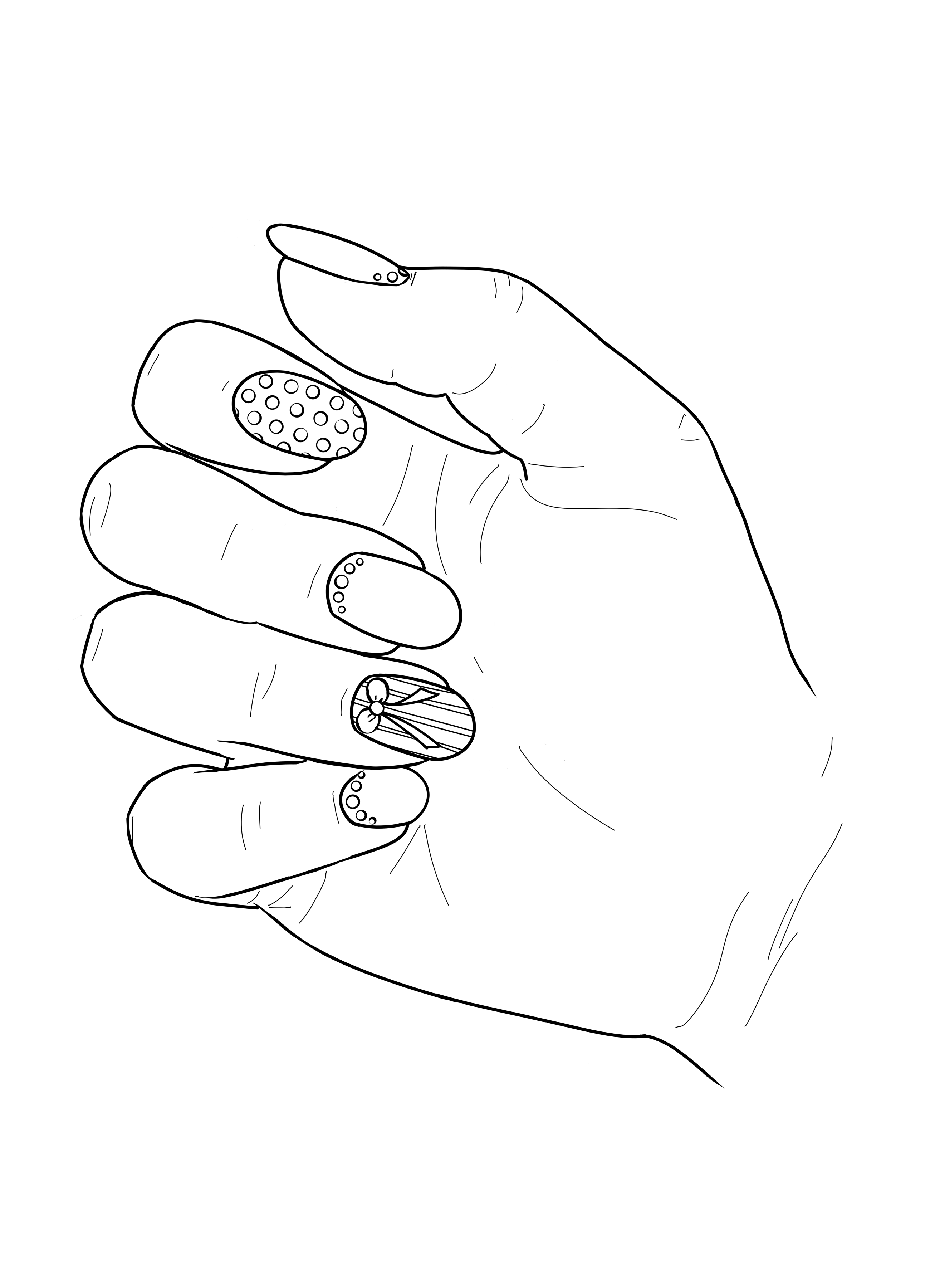Pin On Nail Art Adult Coloring Book